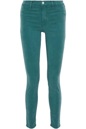 J BRAND Stretch Tencel and cotton-blend skinny pants