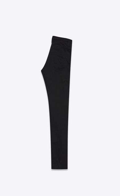SAINT LAURENT Skinny fit Uomo jeans skinny a vita bassa in denim nero stretch b_V4