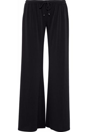 HAUTE HIPPIE Stretch-crepe wide-leg pants