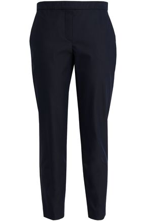 THEORY Cropped cotton-blend twill slim-leg pants