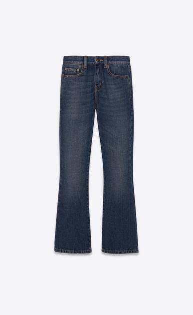 SAINT LAURENT Jeans Damen Cropped Bootcut Jeans aus blauem Vintage-Denim a_V4