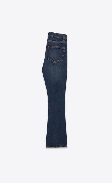 SAINT LAURENT Denim Trousers Woman Cropped bootcut jeans in vintage blue denim b_V4