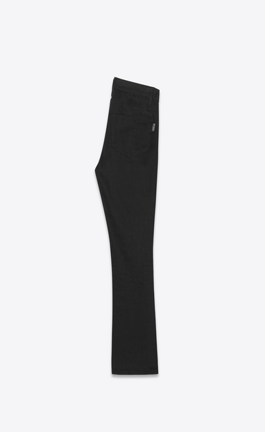 SAINT LAURENT Denim Trousers Woman Cropped bootcut jeans in black denim b_V4