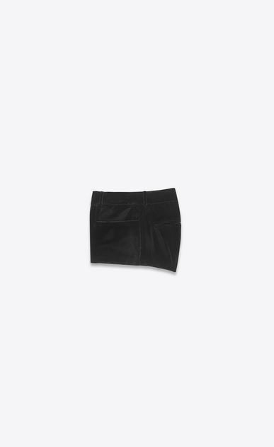 SAINT LAURENT Pantaloncini Donna Micro short in velluto nero b_V4