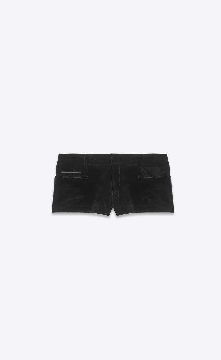 Mini short en velours noir