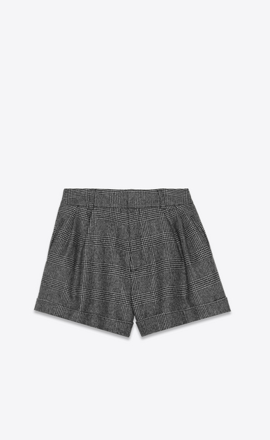 SAINT LAURENT Short Pants Woman Shorts in black and gray glen plaid a_V4