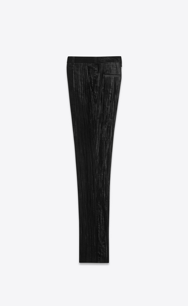 SAINT LAURENT Classic Pant Man Pants in crinkled black velvet b_V4