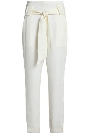 IRO Petterson belted piqué tapered pants