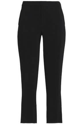 LANVIN Cropped crepe slim-leg pants