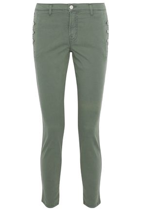 J BRAND Cotton-blend twill skinny pants