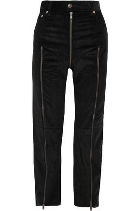 VETEMENTS + Levi's cropped zip-detailed cotton-corduroy straight-leg pants