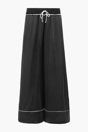 OFF-WHITE™ Satin wide-leg pants