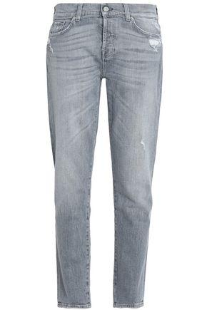 7 FOR ALL MANKIND Josefina distressed mid-rise slim-leg jeans