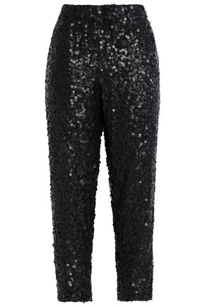 JOIE Aife sequined crepe tapered pants