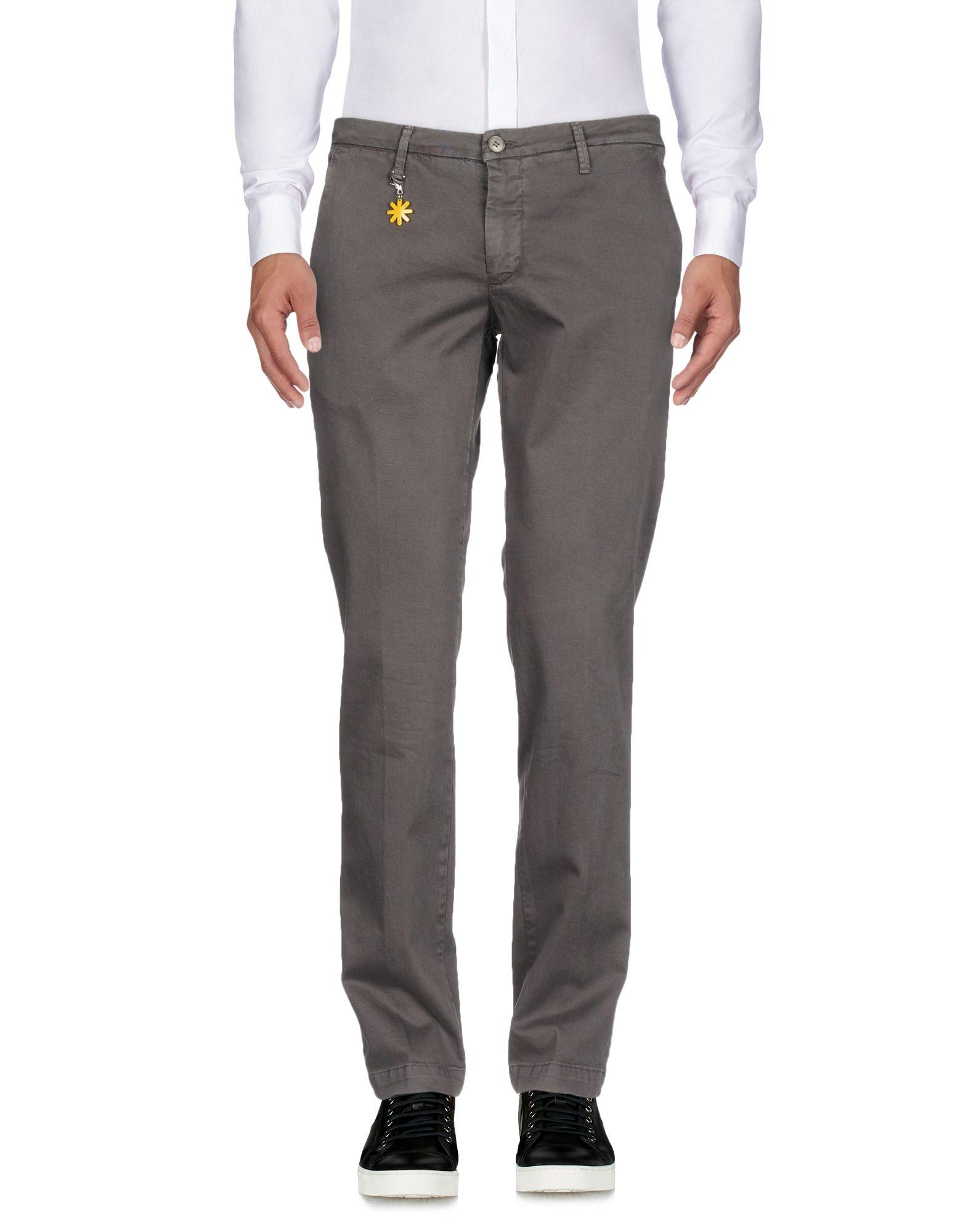 《送料無料》MANUEL RITZ メンズ パンツ 鉛色 54 コットン 100%