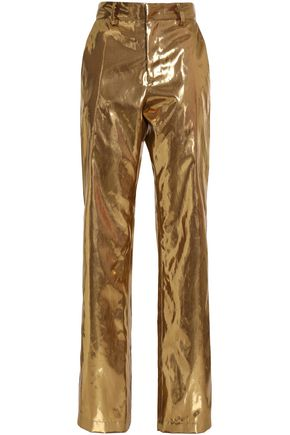 MSGM Lamé straight-leg pants