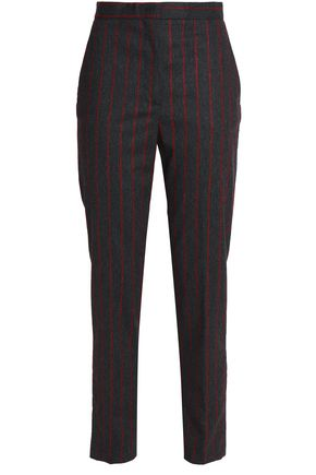 MSGM Striped twill slim-leg pants