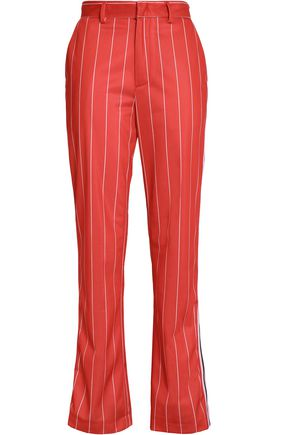 MSGM Striped crepe bootcut pants