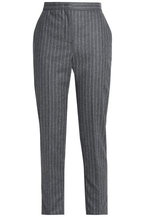 MSGM Striped wool-blend slim-leg pants