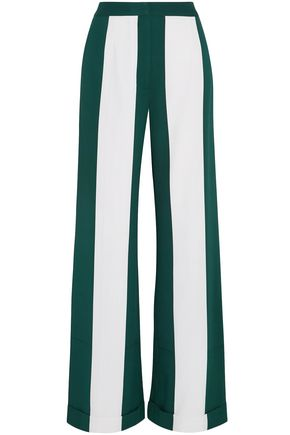 MONSE Striped silk-blend wide-leg pants