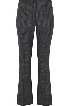 HELMUT LANG Houndstooth wool-blend kick-flared pants