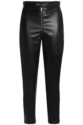 MSGM Faux leather slim-leg pants
