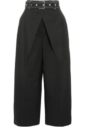PROENZA SCHOULER Cropped wool-blend twill wide-leg pants