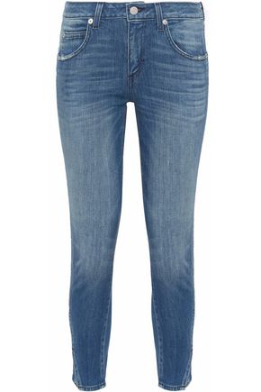AMO Twist distressed mid-rise skinny jeans