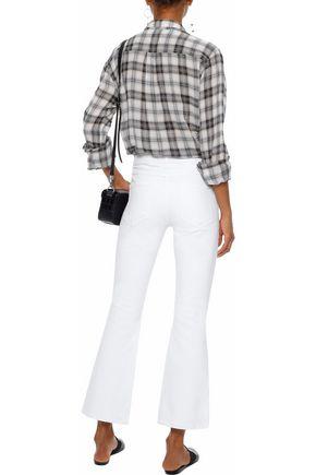 AMO Jane distressed mid-rise kick-flare jeans