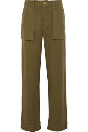 RAQUEL ALLEGRA Cotton-twill straight-leg pants