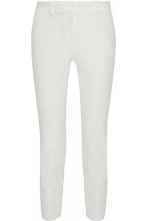 THEORY Cropped stretch-cotton twill slim-leg pants