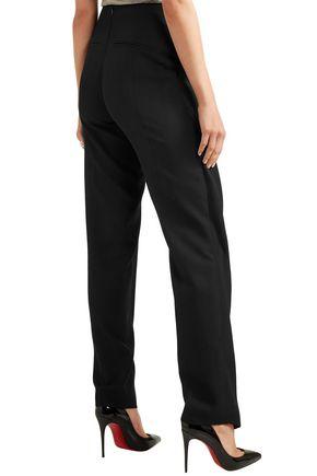 PALLAS Layered wool straight-leg pants