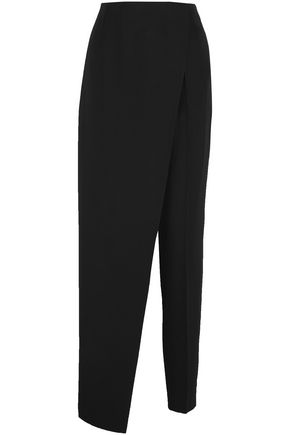PALLAS Layered wool straight-leg pants