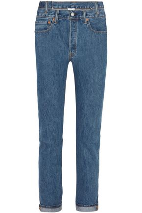 VETEMENTS x LEVI'S + Levi's asymmetric high-rise slim-leg jeans