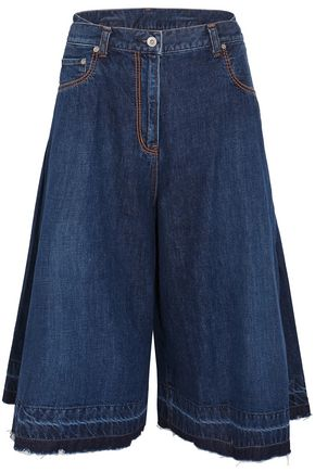 SACAI Pleated denim culottes