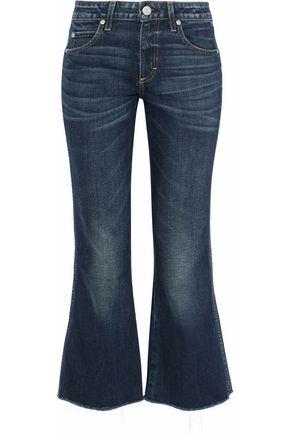 AMO Frayed mid-rise kick-flare jeans