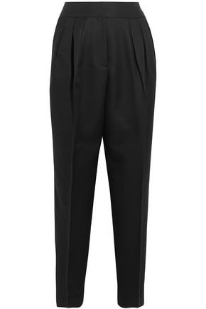 BOTTEGA VENETA Cropped wool and silk-blend tapered pants