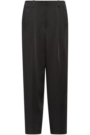 THE ROW Firth satin-crepe wide-leg pants