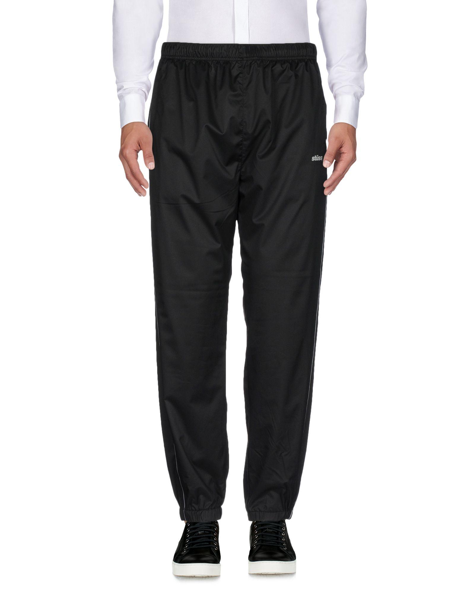 《送料無料》STUSSY メンズ パンツ ブラック L ポリエステル 100%