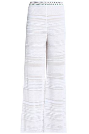 MISSONI Crochet-knit wide-leg pants