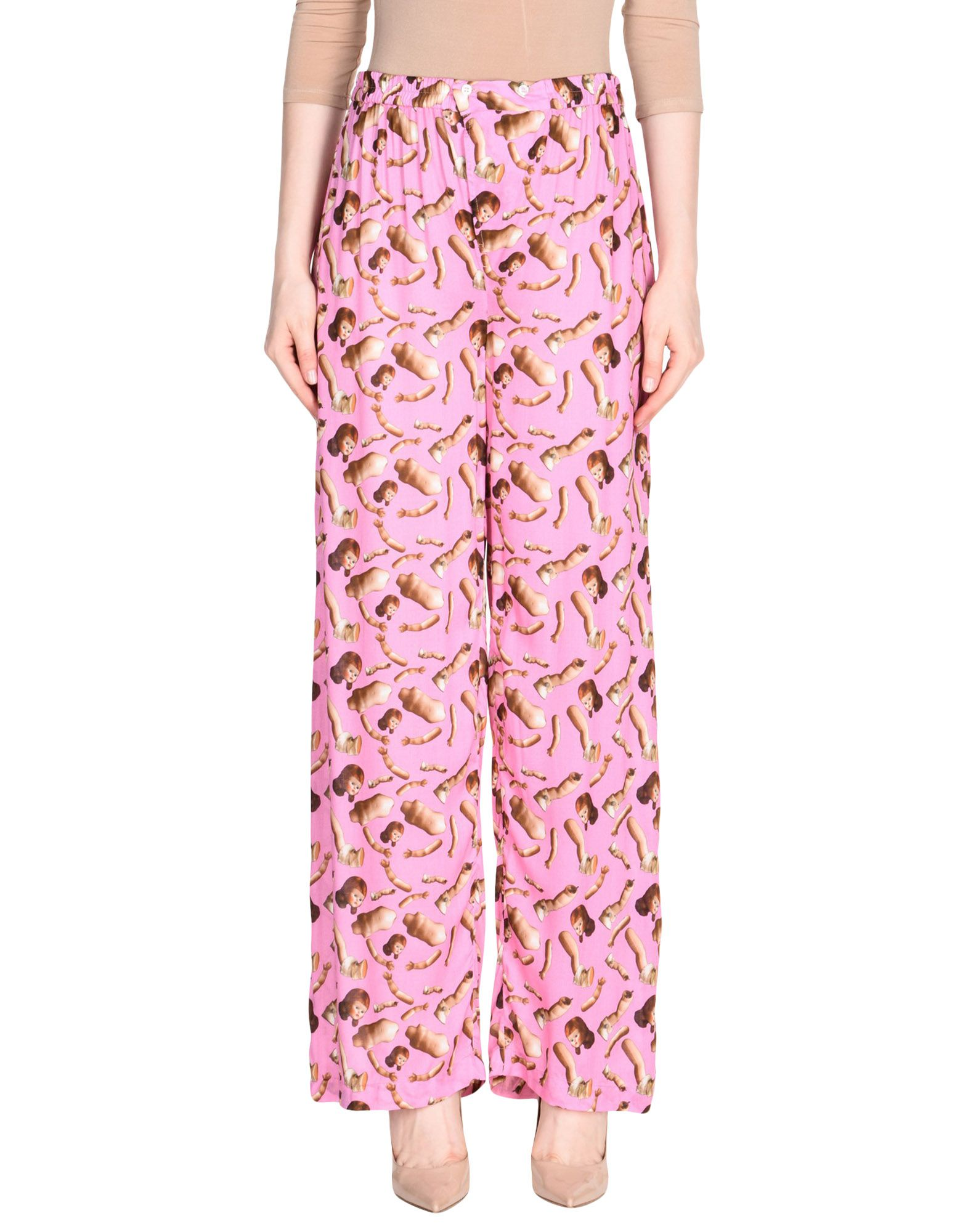 GIORGIA FIORE Casual Pants in Pink