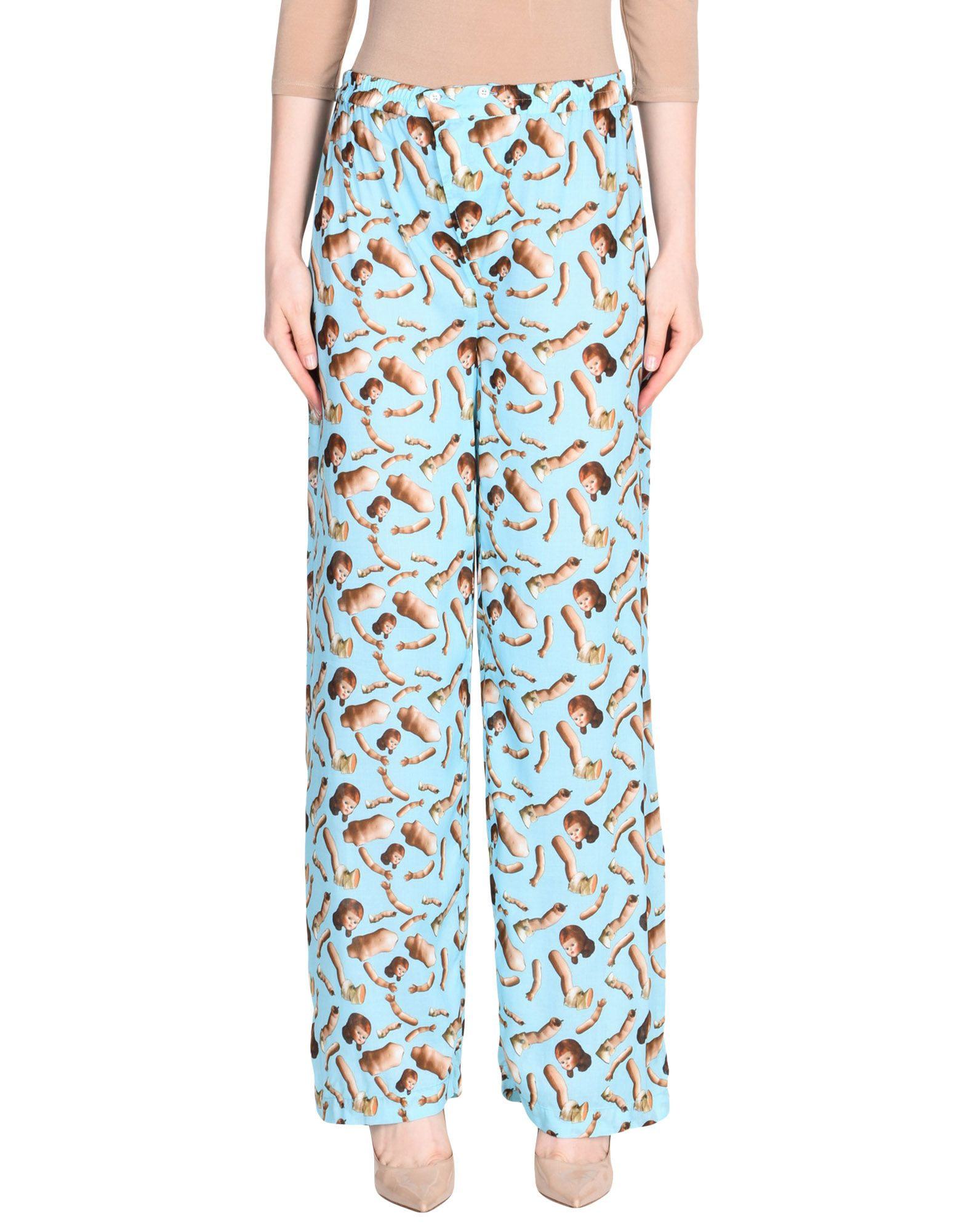 GIORGIA FIORE Casual Pants in Turquoise