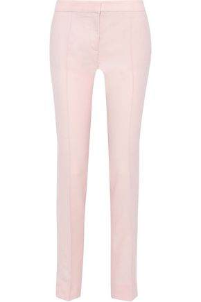 STELLA McCARTNEY Anna wool-piqué straight-leg pants