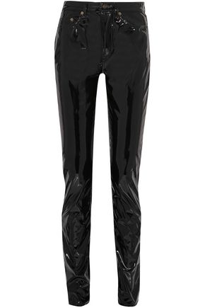 SAINT LAURENT Vinyl straight-leg pants