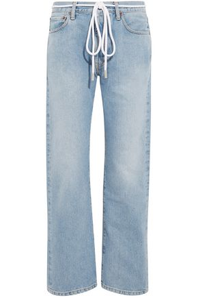 OFF-WHITE™ Belted printed boyfriend jeans