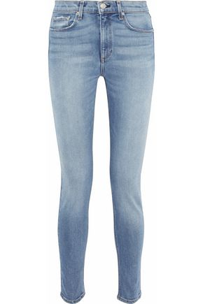 RAG & BONE/JEAN Distressed high-rise skinny jeans