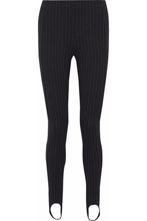 TOTÊME Pinstriped jersey skinny stirrup pants