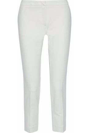 HOUSE OF DAGMAR Nelly cropped stretch-cady straight-leg pants