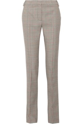 STELLA McCARTNEY Checked wool straight-leg pants