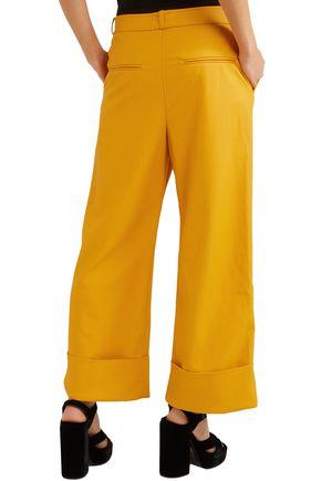 A.W.A.K.E. Faux leather wide-leg pants